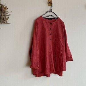 画像1: ヘンリーネックシャツ (1)