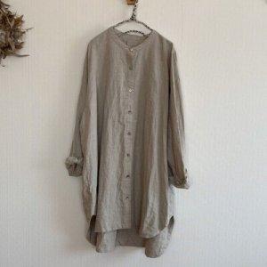 画像1: 切替チュニックシャツ (1)